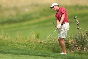 <p>Alabama's Robby Shelton won his match in all three rounds of the match-play portion of the NCAA men's golf tournament. (AP Photo/The Hutchinson News, Travis Morisse)</p>