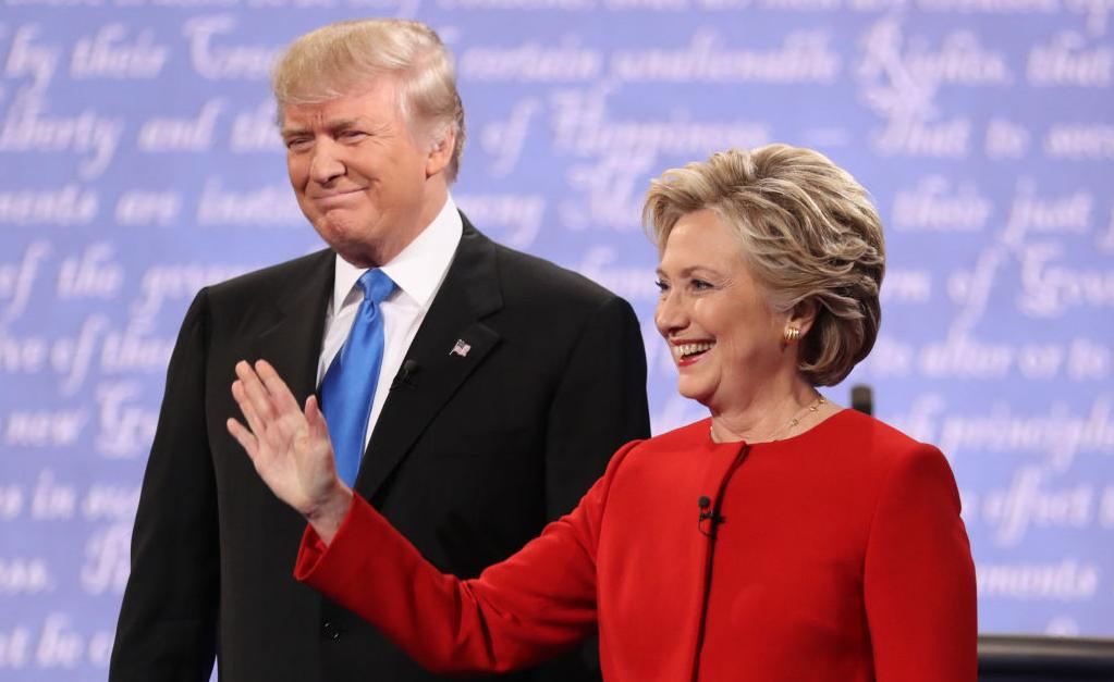Clinton, Trump press pointed attacks in debate