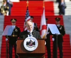<p>Gov. Robert Bentley, at his inauguration in January 2011. (AP file photo)</p>