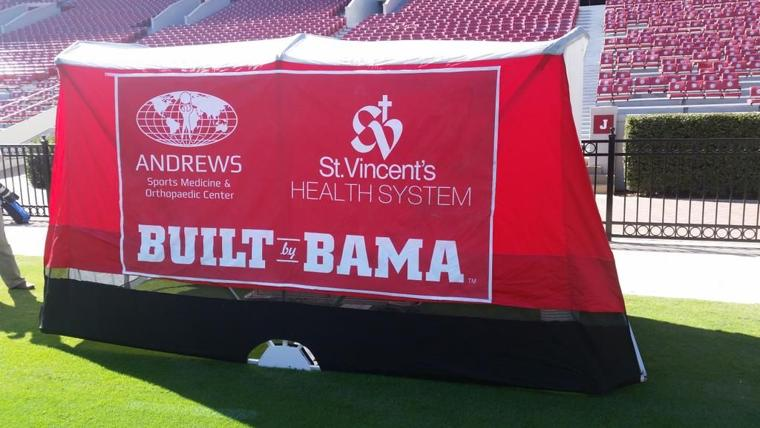 Alabama football: Medical tent helps put Tide trainers, doctors on