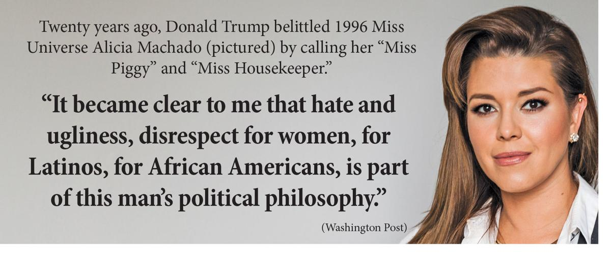 Donald Trump and the former Miss Universe