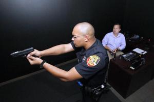 Firearms simulator helps train Anniston police