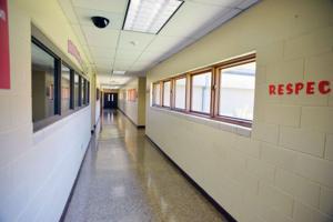 Anniston Middle School hallway