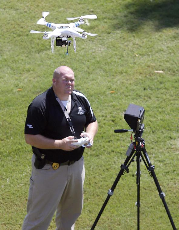 Drone flight with Trey Bishop