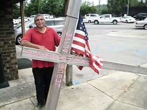 <p>Art Robles, pastor of Cross Ministries Church of Kerrville, Texas, is walking to Washington, D.C., with his cross. Robles hopes to pray with President Barack Obama about issues concerning America.</p>