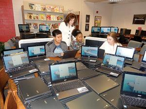 <p>Students at Sylacauga High and Nichols-Lawson Middle schools recently received a combined 181 new Chromebooks from Sylacauga City Schools.</p>