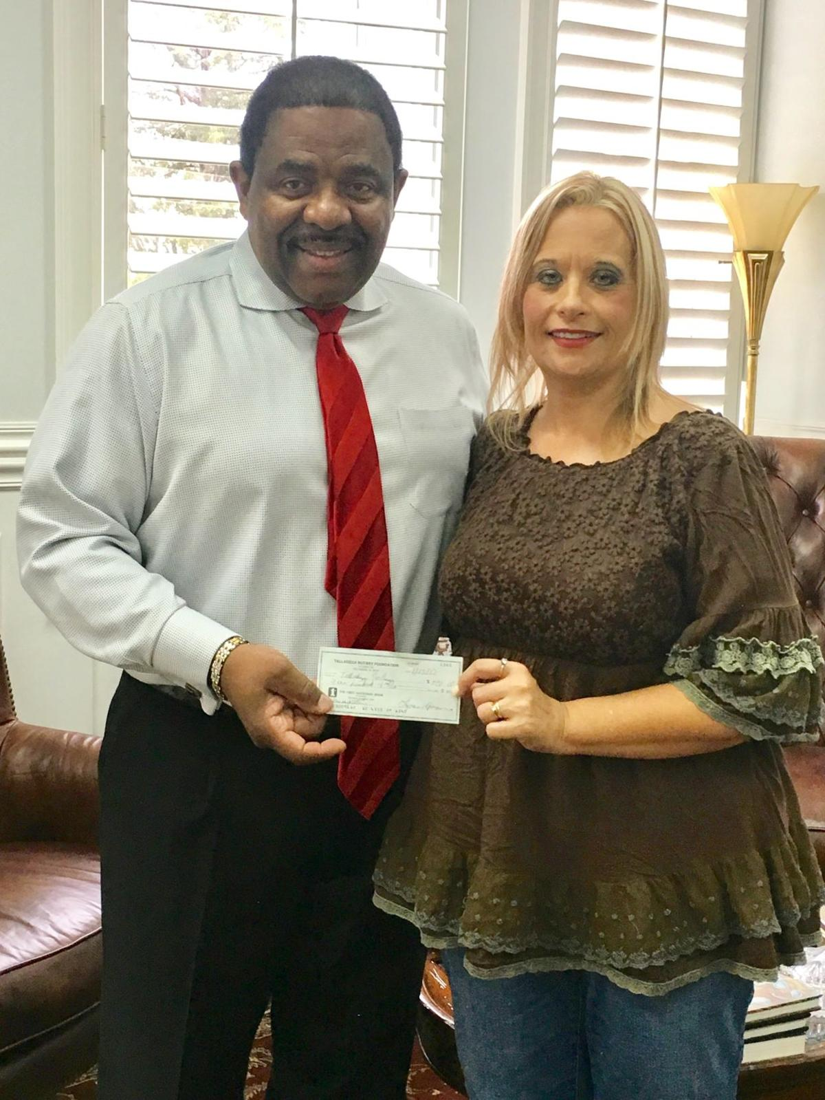 Rotary donates to Talladega College band