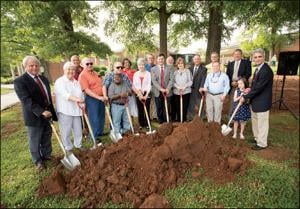 Breaking ground on Landreth Hall