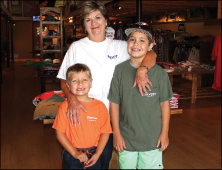 Renae Phillips with grandsons