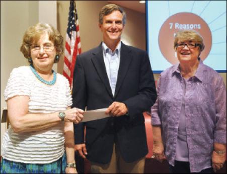 Steve Marlowe presents check