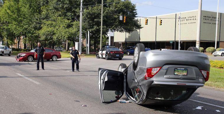 Quintard crash sends three kids to hospital