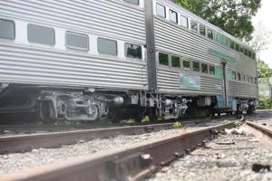 <p>TWENTY-THREE unused rail cars stored at Great Lakes Central Railroad in Owosso, some of which are seen here, cost taxpayers $1.1 million annually in a lease agreement between the firm and the Michigan Department of Transportation.</p>