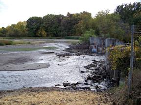 Dam impoundment