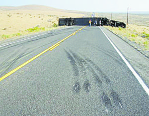 Trucker cited in crash, road closed 8 hours