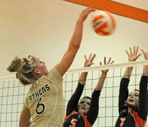 Athens volleyball wins in return to court