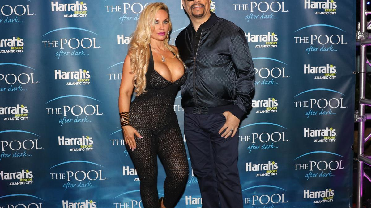 Ice T and Coco at The Pool