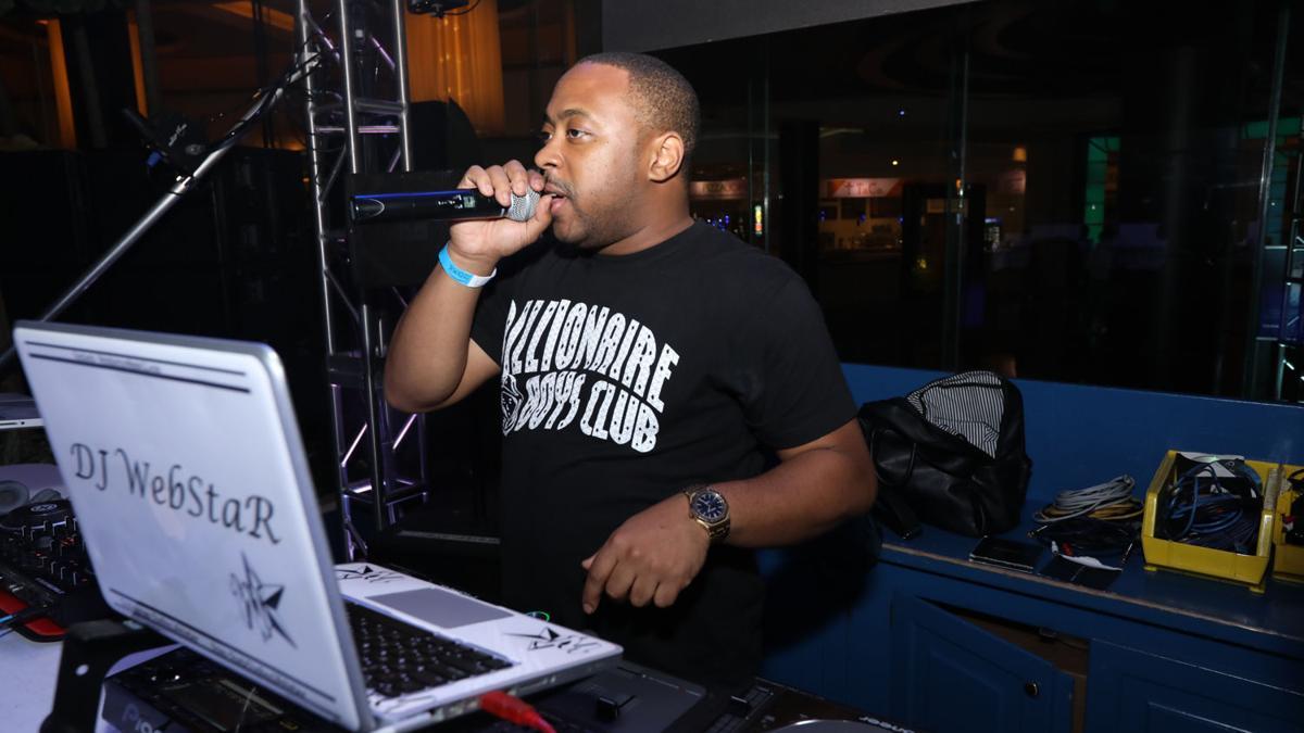 DJ Webstar kicks it at the Pool
