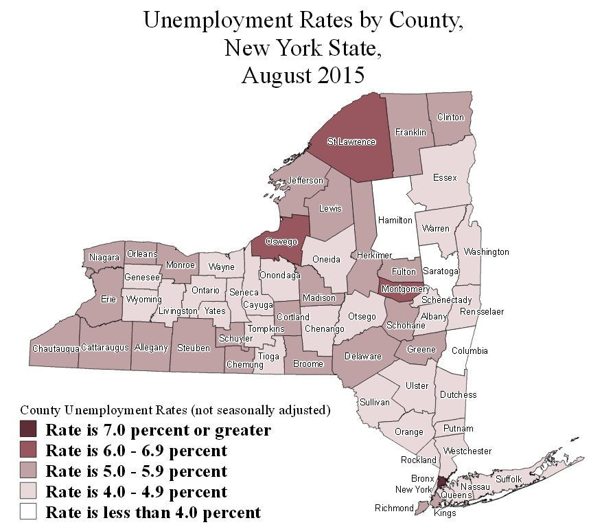 Unemployment ny new york county unemployment rates for for Auburnpub
