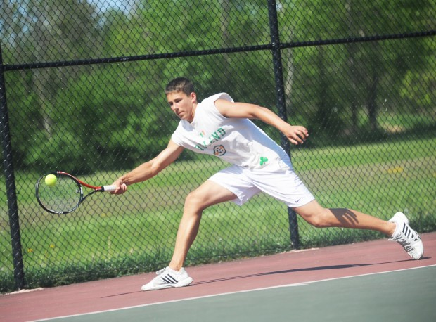 trumansburg senior singles Christopher dolan / staff photographer dallas' morgan landau  competes in a singles match against hazleton area on.