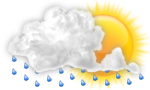 Cloudy with showers and thunderstorms