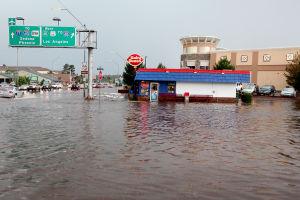 Downpour floods out dry season