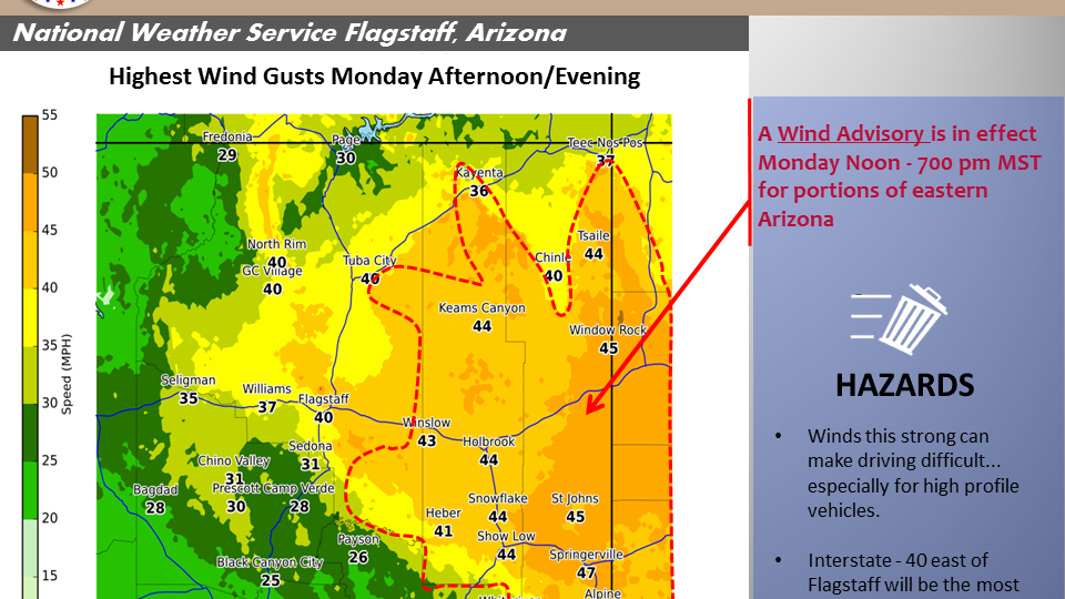 8:30 p.m. update: Another Red Flag Warning day for northeast Arizona