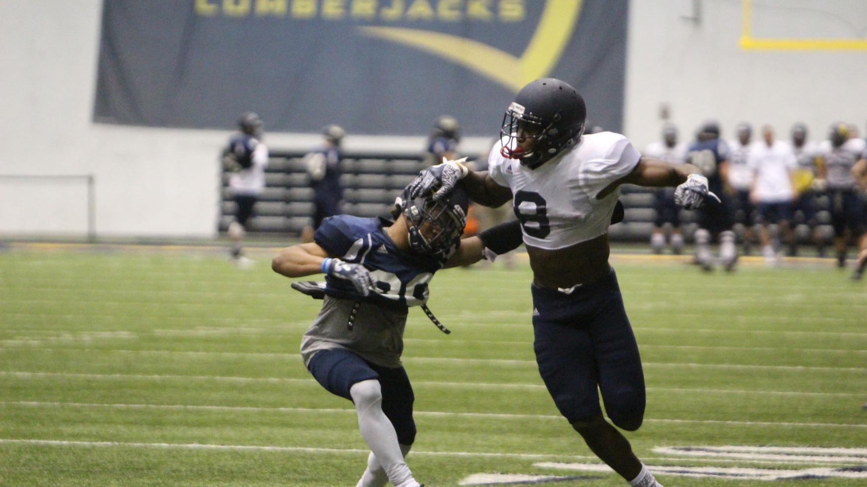 Familiar faces stand out early in Lumberjacks spring camp
