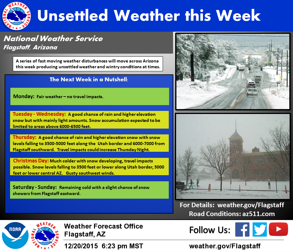 monday morning update  snow in flagstaff forecast tuesday