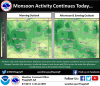 Noon update: Monsoon continues strong today across Flagstaff region