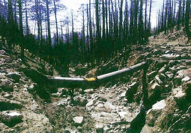 waterline road damage