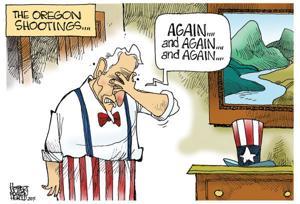 Cartoonists tackle gun violence