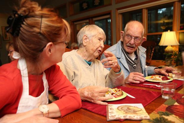 Olivia White Hospice Home residents celebrate Thanksgiving