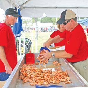 Serving shrimp