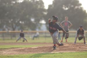 <p>Ayush Patel started the game on the mound for the Red Sox in their 13-11 win over the Pirates in Bay City Little League at Richard Gusman Field on Thursday, May 26. </p>