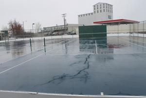 Cracked court