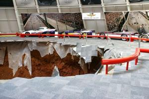 Sinkhole swallows 8 Corvettes