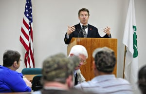 Rand speaks at a forum in Butler County