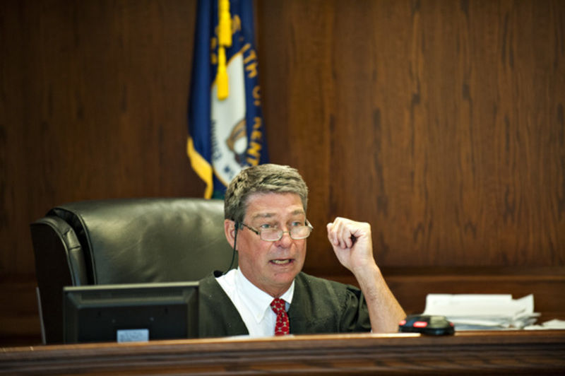 Judge sam potter presides over the arraignment hearing of judy