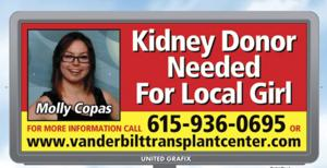 Billboard promotes need for organ donors
