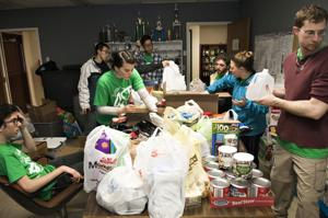 Students volunteer to help storm victims