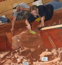 Archaeology  students dig into buffalo jump