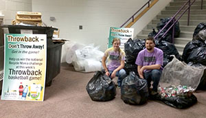 BHSU collects more than 300 pounds of waste during nationwide recycling competition
