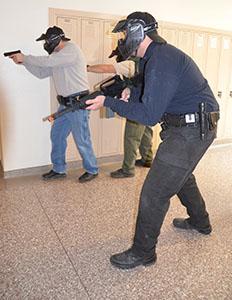 Police train to defend schools