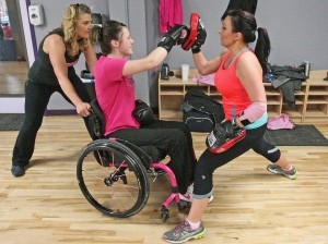 MSUB student paralyzed in crash discovers new passion in Pink Gloves boxing