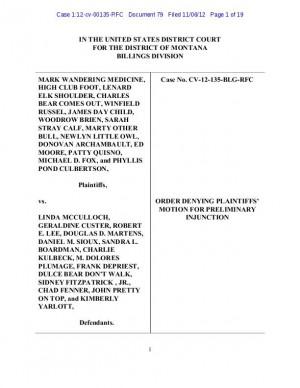 U.S. judge explains ruling on Indian voting; plaintiffs promise appeal