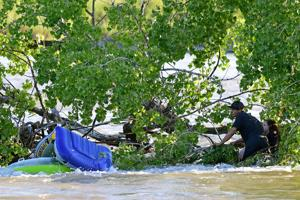 Yellowstone River water rescue