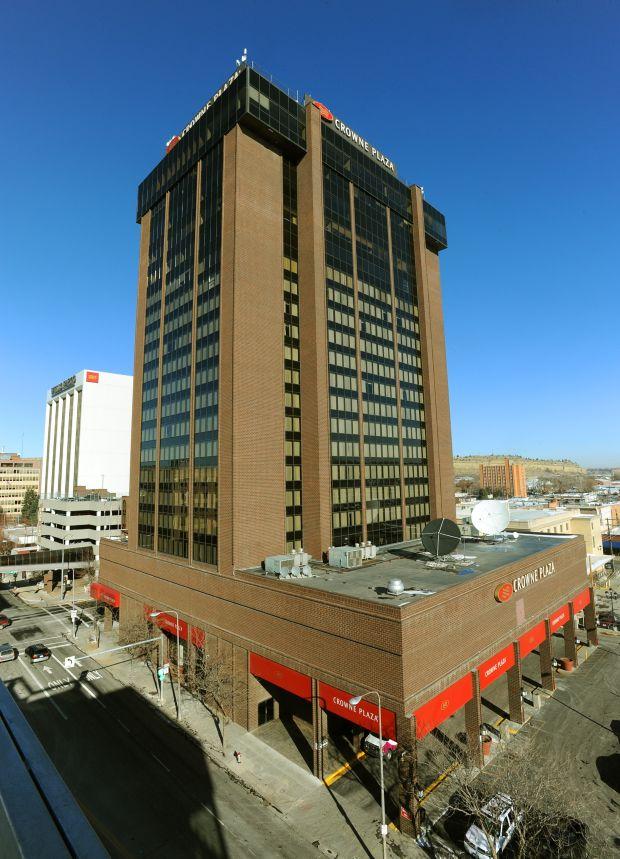 The Crowne Plaza: One big brick building
