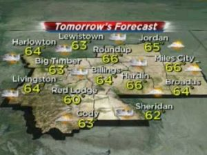 Weather outlook: Rain or thunderstorms possible