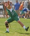 Billings Central's Sean Ward wins the javelin at State A track