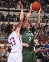 Central's Jacob Stanton shoots